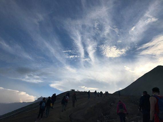 Рассвет на вулкане