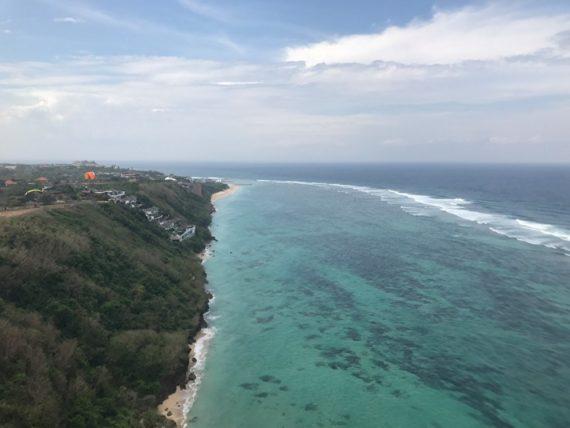 Вид на Бали из параплана