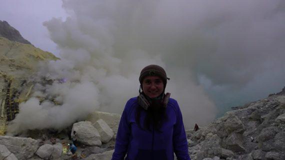 Я на вулкане Иджен